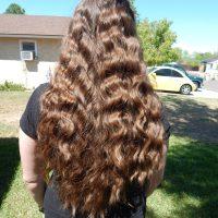 """18"""" Virgin Brown hair.  Ready to Cut!"""
