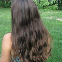 22 inch Virgin Brown Hair / Auburn Highlights (Slight Wave)