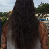 "Black Virgin Hair 17"" w/ some silver strands"