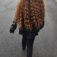 Beautiful Naturally Curly Golden Brown Birgin Hair