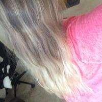 Blonde / Long bleached hair
