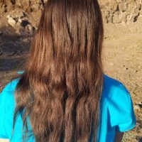 """10-11"""" of Healthy Chestnut Virgin Remy Naturally Straight Caucasion Hair"""