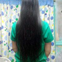 UNCUT! Long, silky soft straight black hair