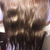 Virgin Golden Brown Hair 20in