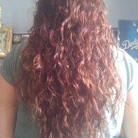 Virgin Auburn curly hair