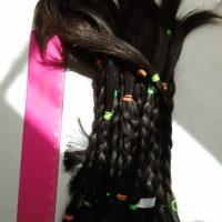 Dark brown virgin 6 inches hair