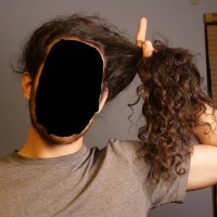 "Dark Brown 20"" Male Curly Virgin Hair"
