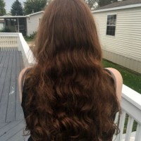 Thick & Beautiful 23″ Long Virgin Curly/Wavy Auburn Hair