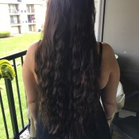 16 inches Luxurious Virgin Dark Brown Hair