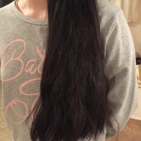 Virgin black hair