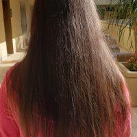 "12"" Virgin Asian Black-Brownish Hair Uncut"