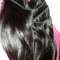 "Dark Brown Virgin 7"" Tresses Pre-Cut"