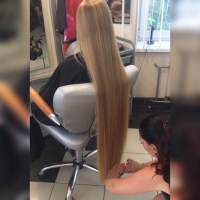 35 Inches BLONDE VIRGIN HAIR READY TO CUT