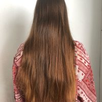 18'', healthy, thick, silky virgin hair (price negotiable)
