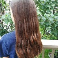 100% Beautiful, Healthy, Brown, Virgin Hair. 7 Inches. Never Been to a Hair Salon and Never Dyed .