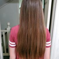 9-10 inches of Brunette Virgin Hair