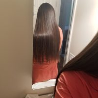 12 inches of virgin Chestnut hair with gorgeous natural highlights and lowlights!