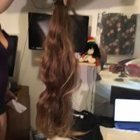 11 yr old girl  chestnut virgin hair