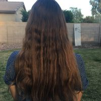 Brown, 12 inch hair