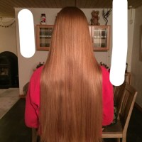 10 inches natural red/blond/orange hair