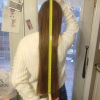 20 Inchs strawberry blond virgin hair