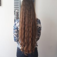 20'' Virgin Thick & Strong Light Chestnut Hair