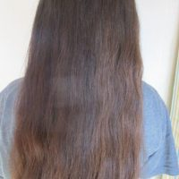Virgin Brown Hair 18'' long never heat or chemically treated natural highlights