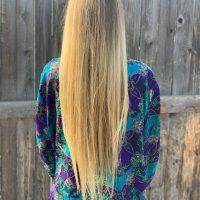 "14"" Healthy Straight Blonde Hair"