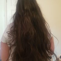 Dark brown virgin hair not cut yet