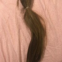 11 inches 2 1/2 thick virgin dark dirty blonde hair