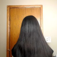 "Medium Long Dark Virgin Hair 13""-14"""