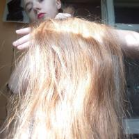 Natural red Slavic hair. 60 centimeters