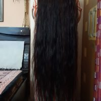 Indian black long straight hair
