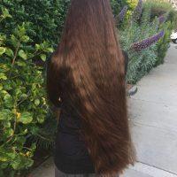 "18"" of Natural, Beautiful Chestnut Brown Hair"