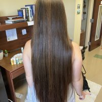 18 INCHES OF CHESTNUT AUBURN HAIR, CHEMICAL FREE, HEAT FREE