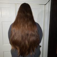 22 inch virgin brown hair