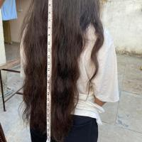 23 inches long black-brown hair || Indian ethnicity || Virgin hair || 3 inches thick at the top
