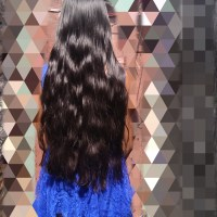 Indian hair( best offer)Length: 23 inches. Colour: Black. wide :4 inches ,* never dyed or coloured