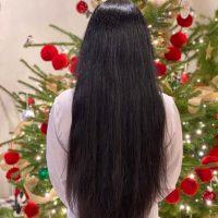 "15"" to 21"" of Virgin Human Hair: straight, black, Asian"
