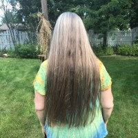 NATURAL OMBRE GRAY TO BROWN