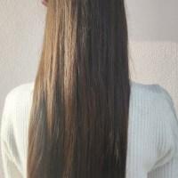 Virgin Chestnut Hair Treated w/ Coconut Oil & No Heat