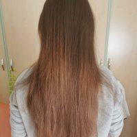 30 cm/11,811 inches brown  virgin hair