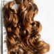"8-9"" Naturally Curly Red Hair"