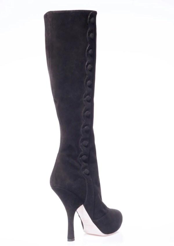 Dolce & Gabbana stivali pelle con tacco stiletto boots shoes