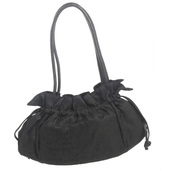 Antonello Serio borsa tela nera manico pelle