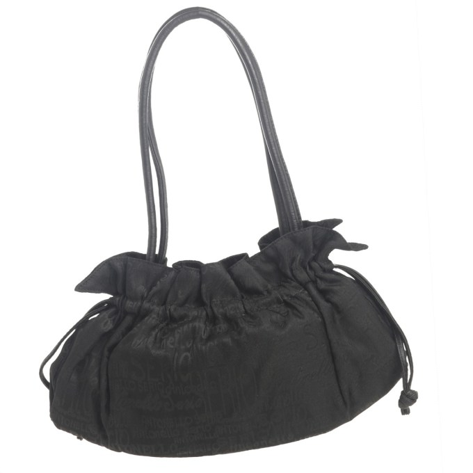 ANTONELLO SERIO - black canvas bag leather handle