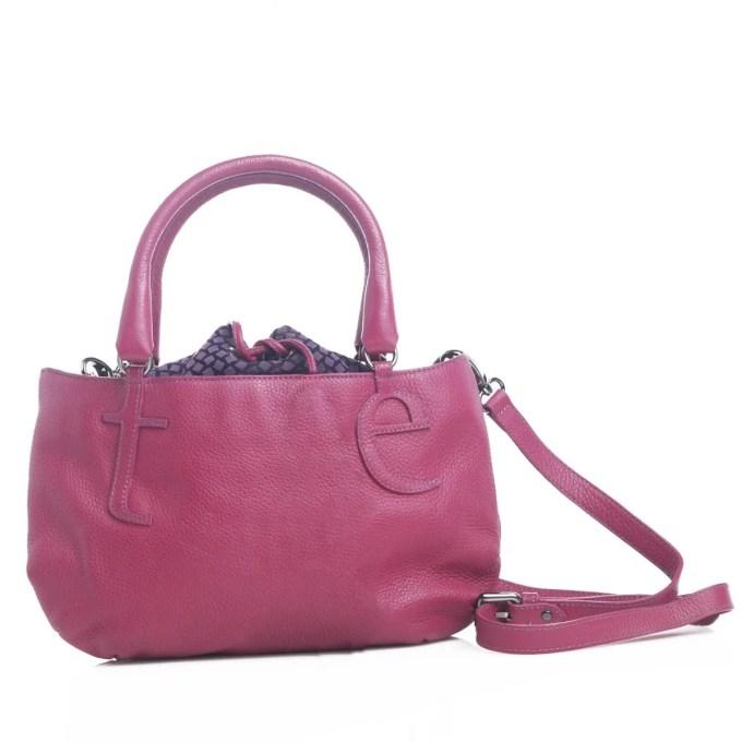 CARACTERE - leather handbag with shoulder strap