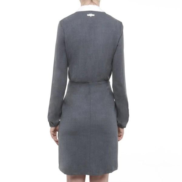 Twin set di Simona Barbieri abito grigio colletto removibile