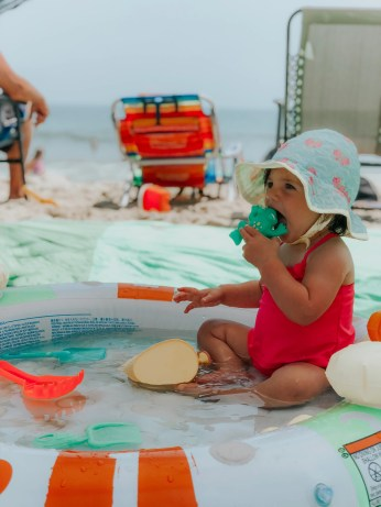 Planning a beach vacation with your baby or toddler? Make it more manageable and enjoyable with these tips and enjoy your trip.
