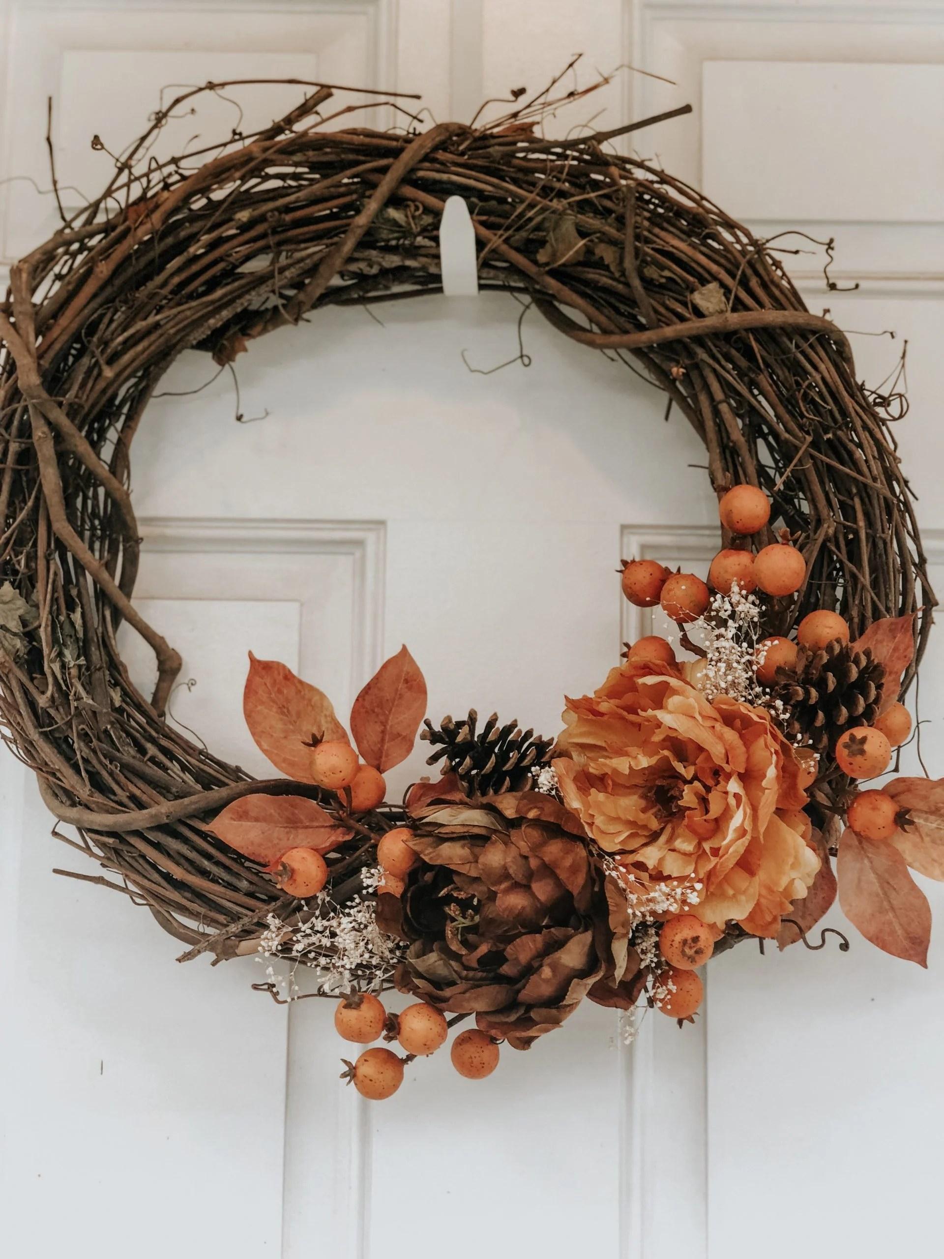Simple DIY Autumn Wreath for Under $15